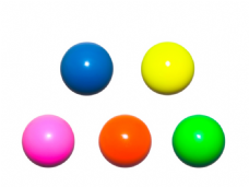 Jac Products 62mm DX Chroma Plus Fluorescent Juggling Ball